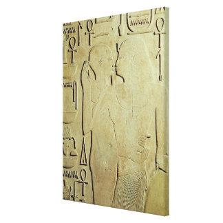 神Ptahが包含するSesostris I キャンバスプリント