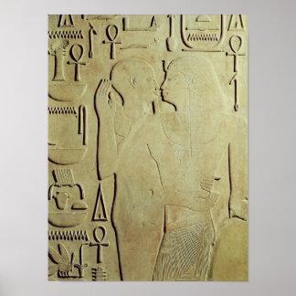 神Ptahが包含するSesostris I ポスター
