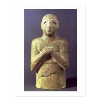 神Utu、メソポタミア、紀元前のc.2400の彫像(リチウム ポストカード