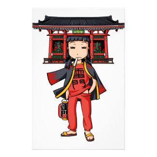 祭りだ浅ちゃん! 英語物語 Asakusa Tokyo Yuru-chara 便箋