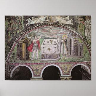 祭壇で提供しているアベルおよびMelchisedech ポスター