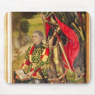 祭壇の背後の飾りの提供者の描写、マイケルde マウスパッド