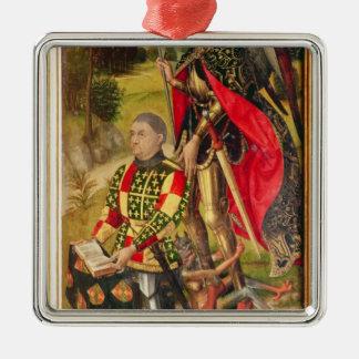 祭壇の背後の飾りの提供者の描写、マイケルde メタルオーナメント