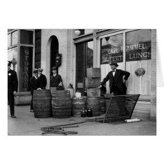 禁制品のアルコール飲料の侵略1923年 カード