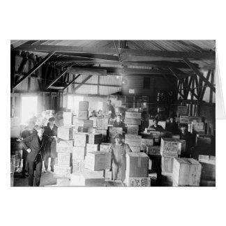 禁制品のウィスキーWarehouse 1920年 グリーティングカード