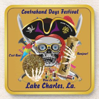 禁制品の日Lake Charles、ルイジアナ。 30色 コースター