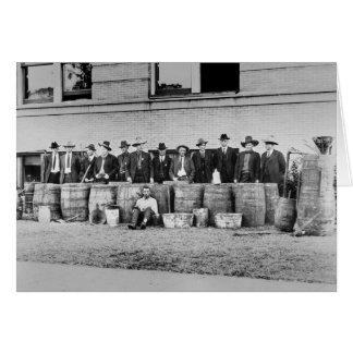 禁制品Liquor 1922年のバレル カード
