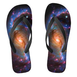 禁止された渦状銀河-宇宙の星の写真 ビーチサンダル
