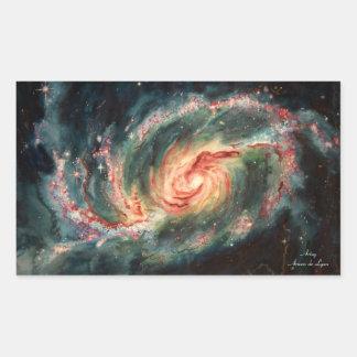 禁止された渦状銀河 長方形シール