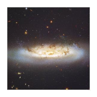 禁止された渦状銀河NGC 4522の《星座》乙女座の銀河系の集り キャンバスプリント