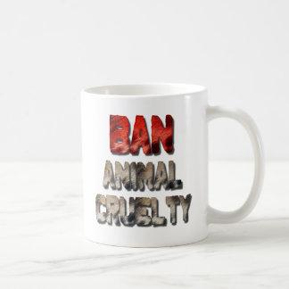 禁止の動物の残酷のコーヒー・マグ コーヒーマグカップ