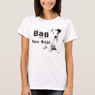 禁止の子犬は動物権のTシャツのTシャツを製粉します Tシャツ