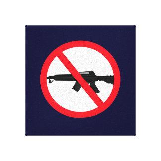 禁止の攻撃用武器の壁掛け キャンバスプリント