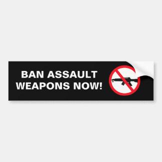 禁止の攻撃用武器 バンパーステッカー