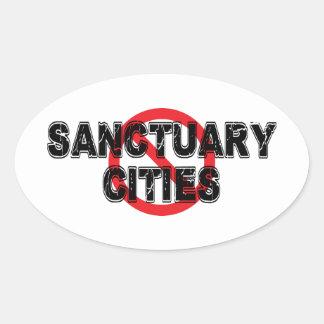 禁止の聖域都市 楕円形シール
