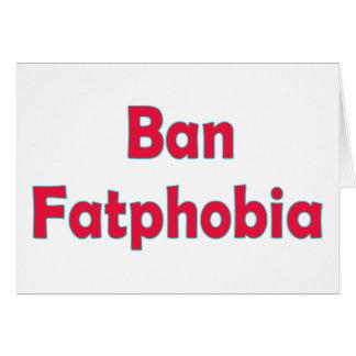 禁止の脂肪恐怖症 カード