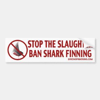 禁止の鮫のFinningのバンパーステッカー バンパーステッカー