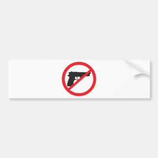 禁止はアンチ銃の平和主義者を撃ちます バンパーステッカー