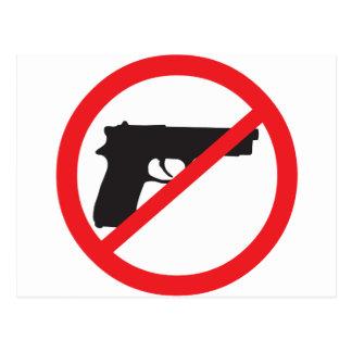 禁止はアンチ銃の平和主義者を撃ちます ポストカード
