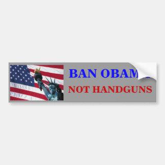 禁止オバマ拳銃ではなく バンパーステッカー