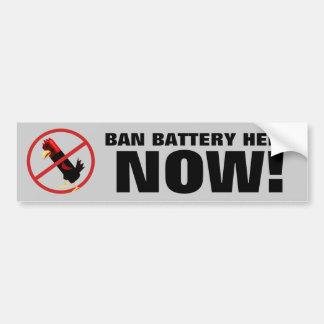 禁止電池雌鶏 バンパーステッカー