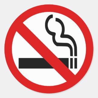 禁煙のステッカー ラウンドシール