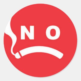 禁煙のロゴ ラウンドシール
