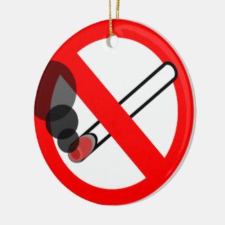 禁煙の印アイコン セラミックオーナメント