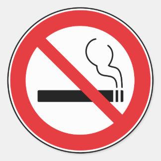 禁煙の印 ラウンドシール
