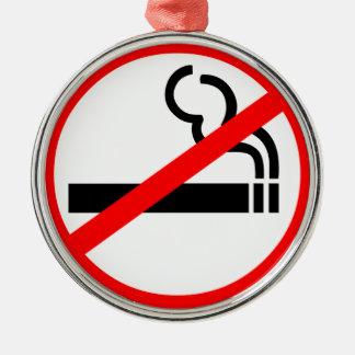 禁煙の記号 メタルオーナメント