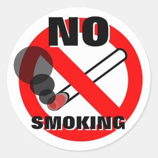 禁煙の警告標識 ラウンドシール
