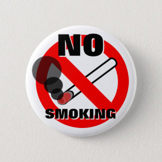 禁煙の警告標識 缶バッジ