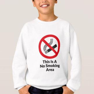 禁煙区域 スウェットシャツ