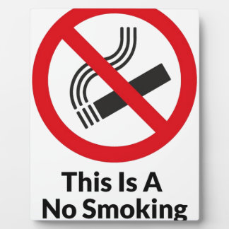 禁煙区域 フォトプラーク