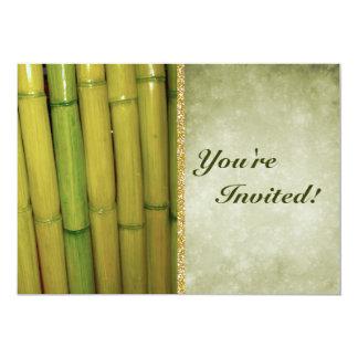 禅のアジア人|の緑のタケ茎 カード