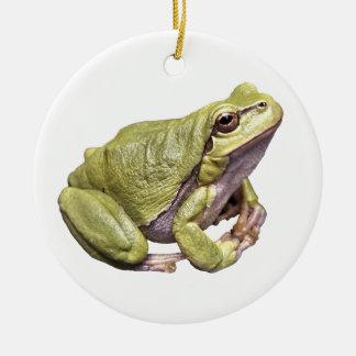 禅のカエルのかわいい落ち着いたTreefrogのオーナメント セラミックオーナメント