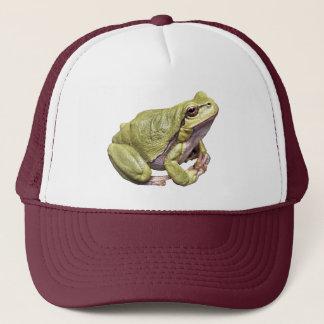 禅のカエルの緑のアマガエルの帽子 キャップ