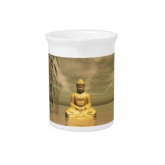 禅の仏のめい想 ピッチャー