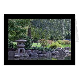 禅の庭の景色 カード