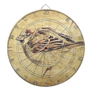 禅の東洋の芸術の鉛筆のスケッチの野生の鳥 ダーツボード