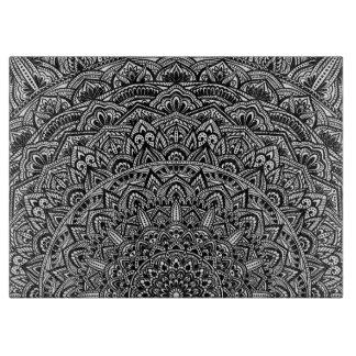 禅の白黒曼荼羅 カッティングボード