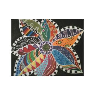 禅の落書きの花-弾丸音の芸術を開花して下さい キャンバスプリント