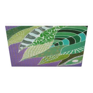 禅の葉-実際のところzendoodleの芸術 キャンバスプリント