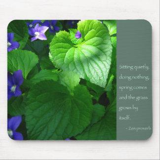 禅の諺の引用文ポスター マウスパッド
