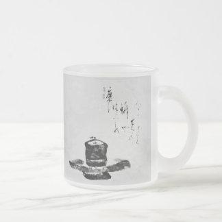 禅の黙想のマグ フロストグラスマグカップ