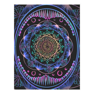 禅パターンの、直る霊気覚醒チャクラ レターヘッド