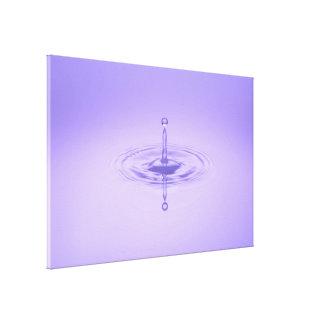 禅紫色水低下の海愛平和インスピレーション キャンバスプリント