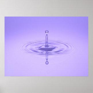 禅紫色水低下の海愛平和インスピレーション プリント