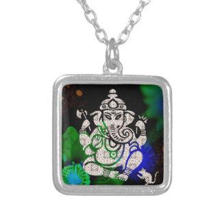 禅Ganesh シルバープレートネックレス