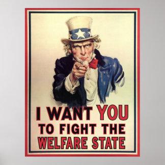 福祉国家に抵抗して下さい ポスター